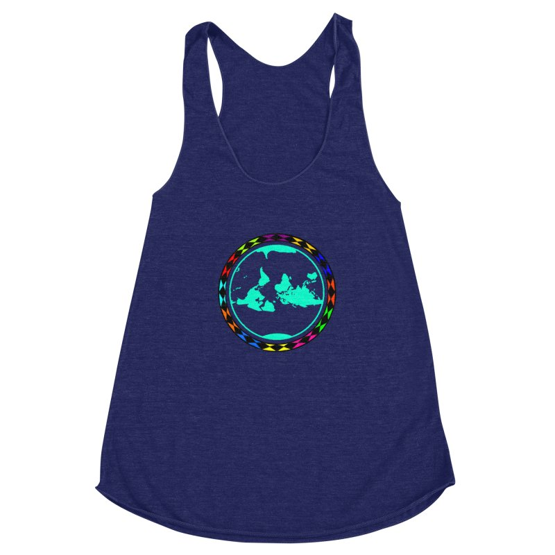 New Vision UN - Center Chest Women's Racerback Triblend Tank by Ugovi Artist Shop