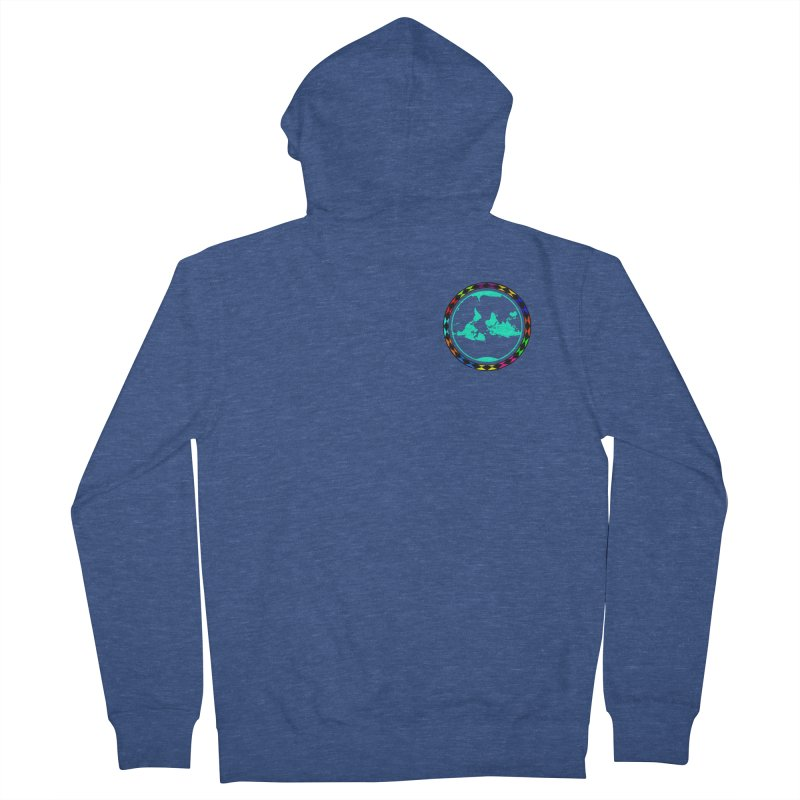 New Vision UN - Heart Position Men's French Terry Zip-Up Hoody by Ugovi Artist Shop