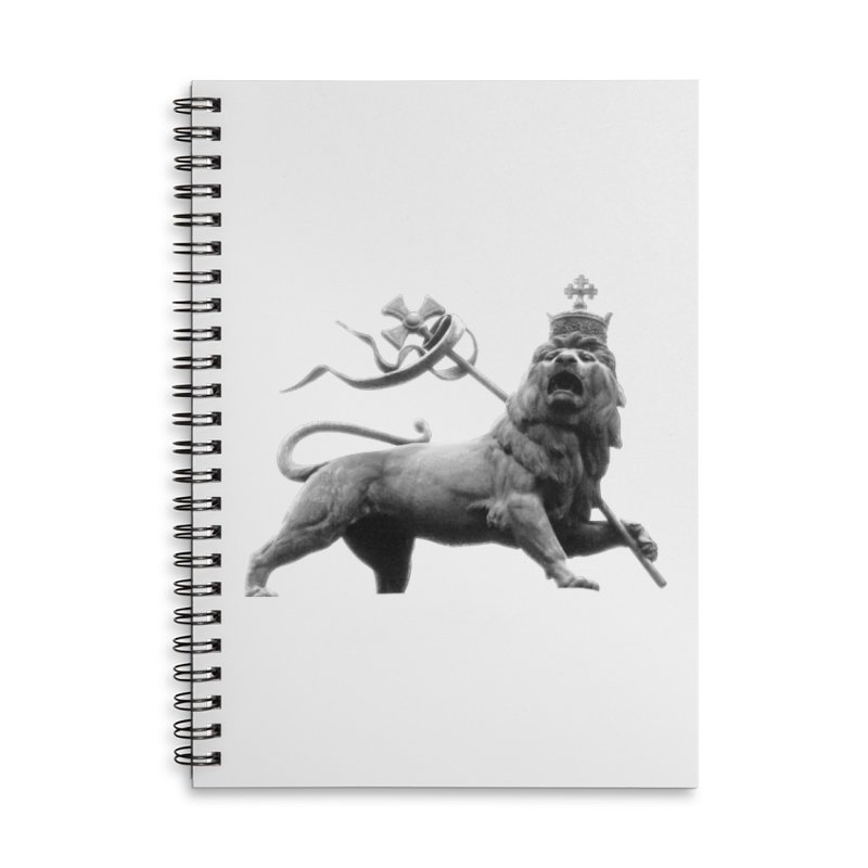 Lion of Judah Accessories Lined Spiral Notebook by Ugovi Artist Shop