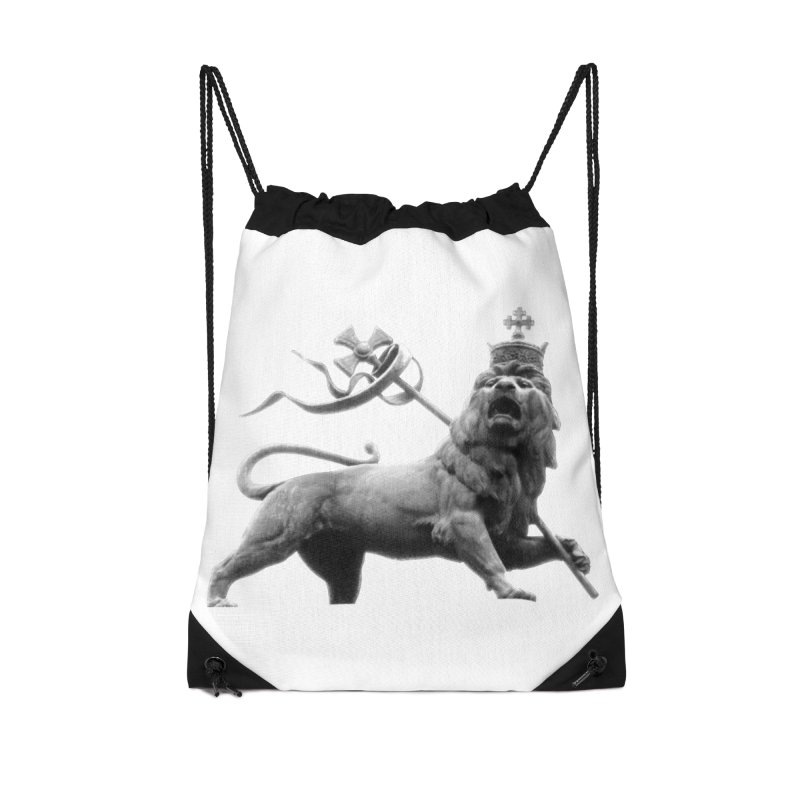 Lion of Judah Accessories Drawstring Bag Bag by Ugovi Artist Shop