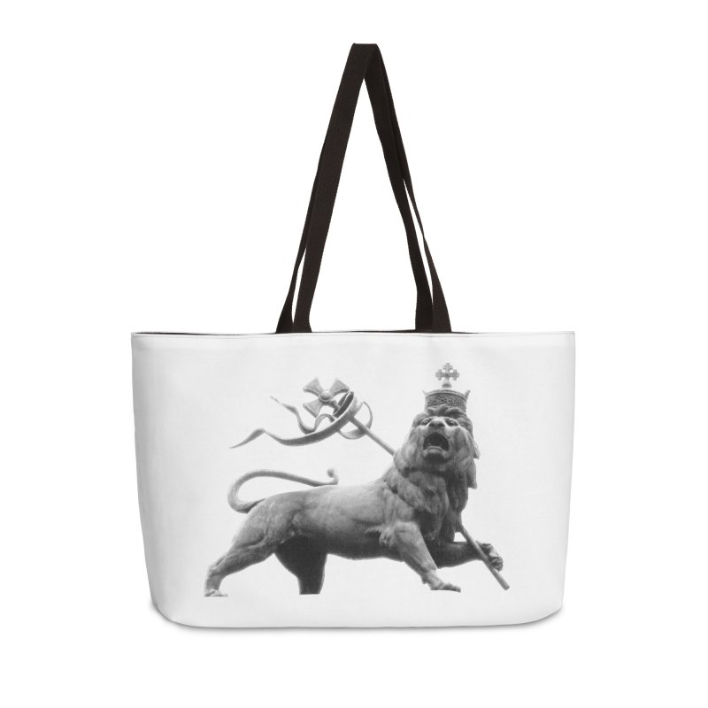 Lion of Judah Accessories Weekender Bag Bag by Ugovi Artist Shop