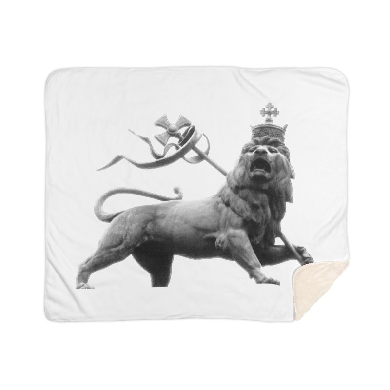 Lion of Judah Home Sherpa Blanket Blanket by Ugovi Artist Shop