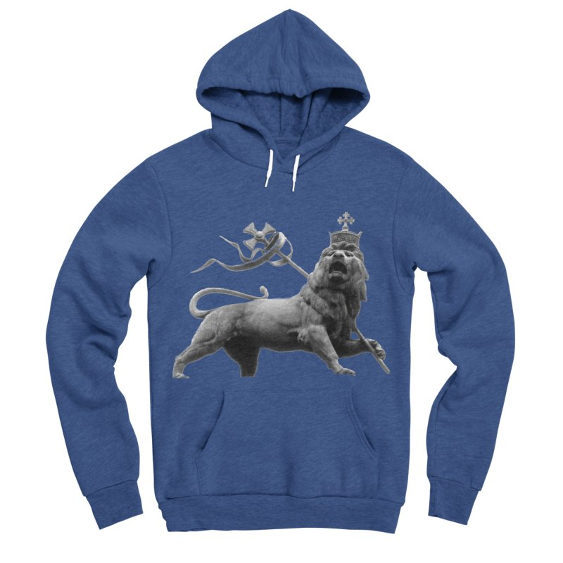 Lion of Judah Men's Sponge Fleece Pullover Hoody by Ugovi Artist Shop