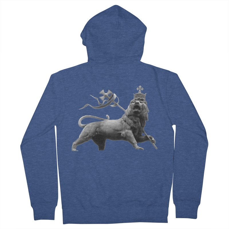 Lion of Judah Men's French Terry Zip-Up Hoody by Ugovi Artist Shop