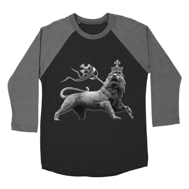 Lion of Judah Men's Baseball Triblend Longsleeve T-Shirt by Ugovi Artist Shop