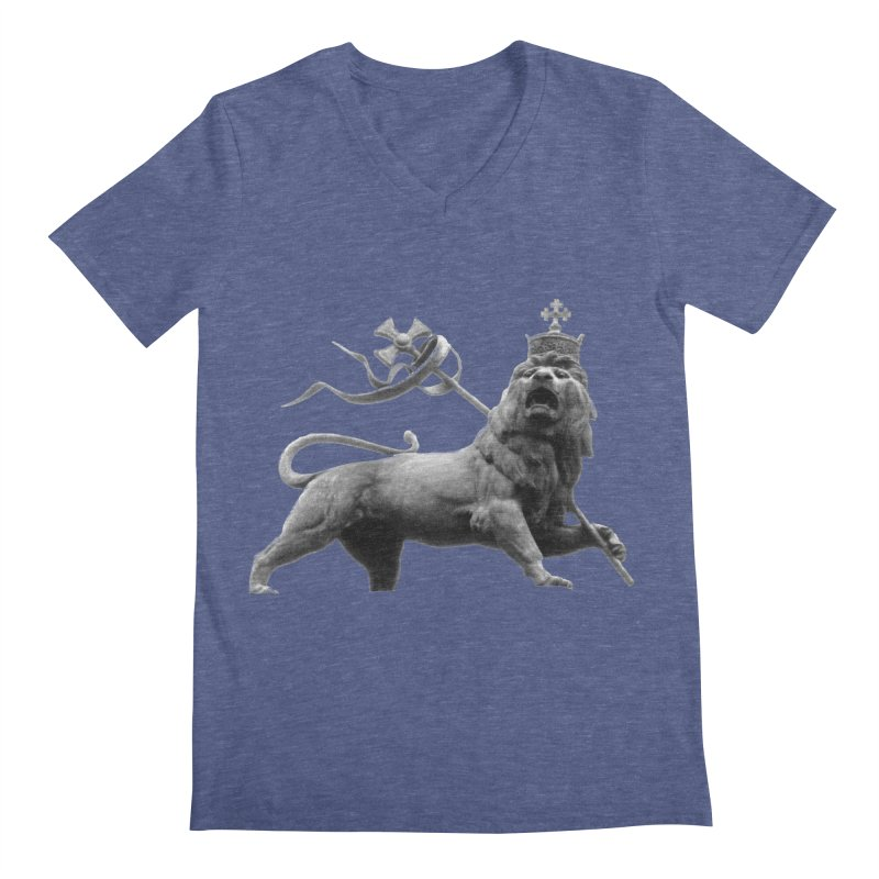 Lion of Judah Men's Regular V-Neck by Ugovi Artist Shop
