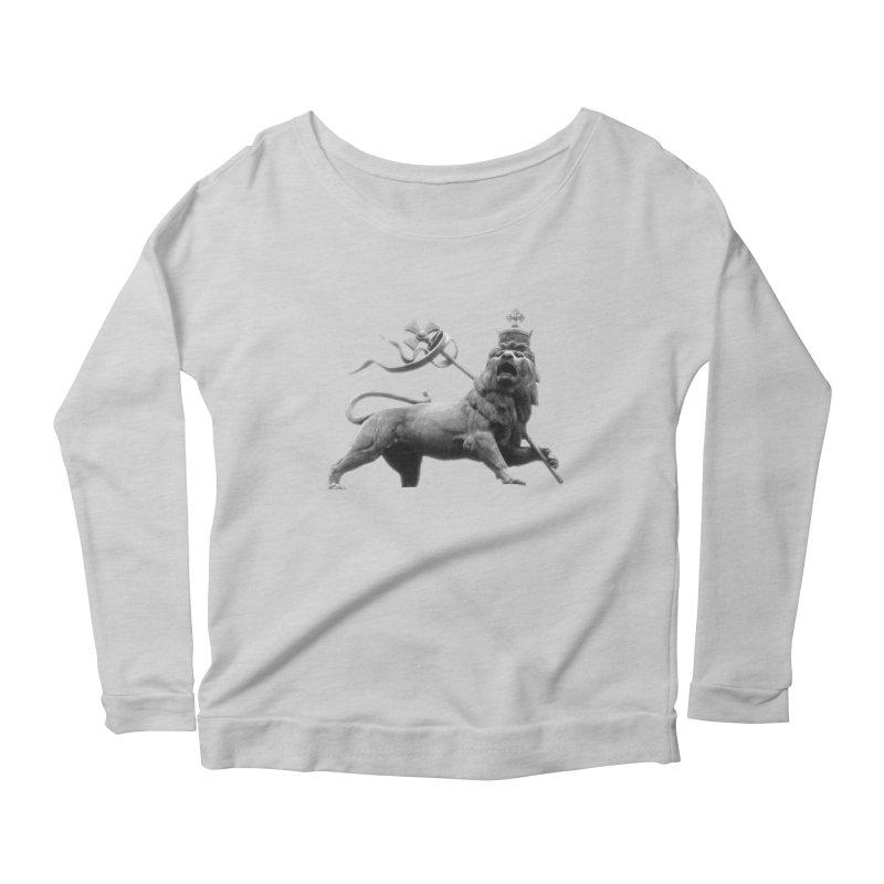 Lion of Judah Women's Scoop Neck Longsleeve T-Shirt by Ugovi Artist Shop