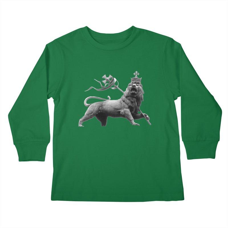 Lion of Judah Kids Longsleeve T-Shirt by Ugovi Artist Shop