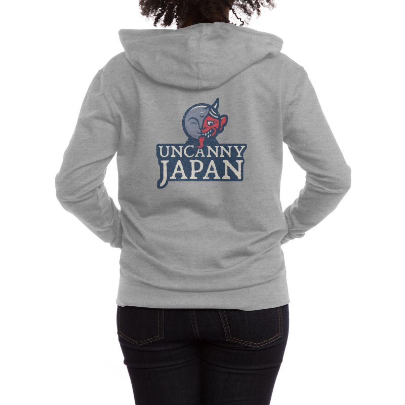 Uncanny Japan-Text Heavy Women's Zip-Up Hoody by UncannyJapan's Artist Shop