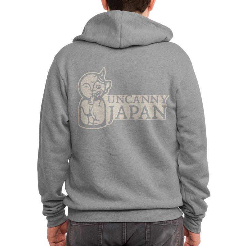Uncanny Japan-horizontal-white Men's Zip-Up Hoody by UncannyJapan's Artist Shop
