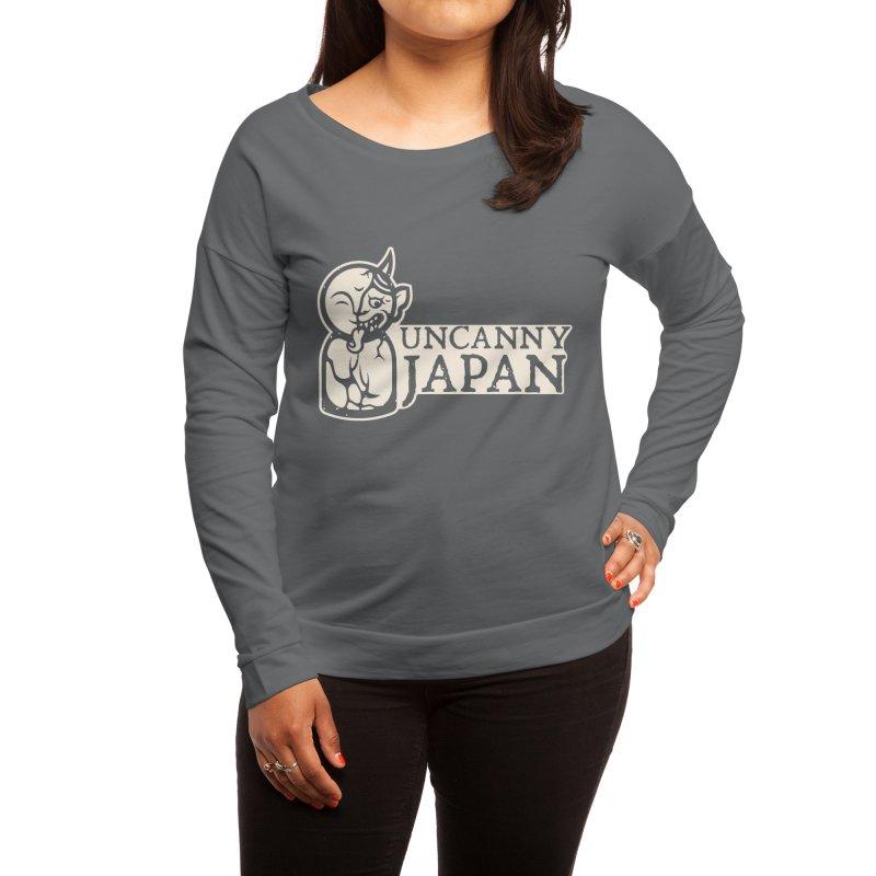 Uncanny Japan-horizontal-white Women's Longsleeve T-Shirt by UncannyJapan's Artist Shop