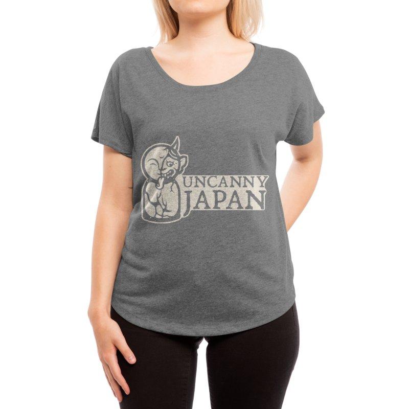 Uncanny Japan-horizontal-white Women's Scoop Neck by UncannyJapan's Artist Shop