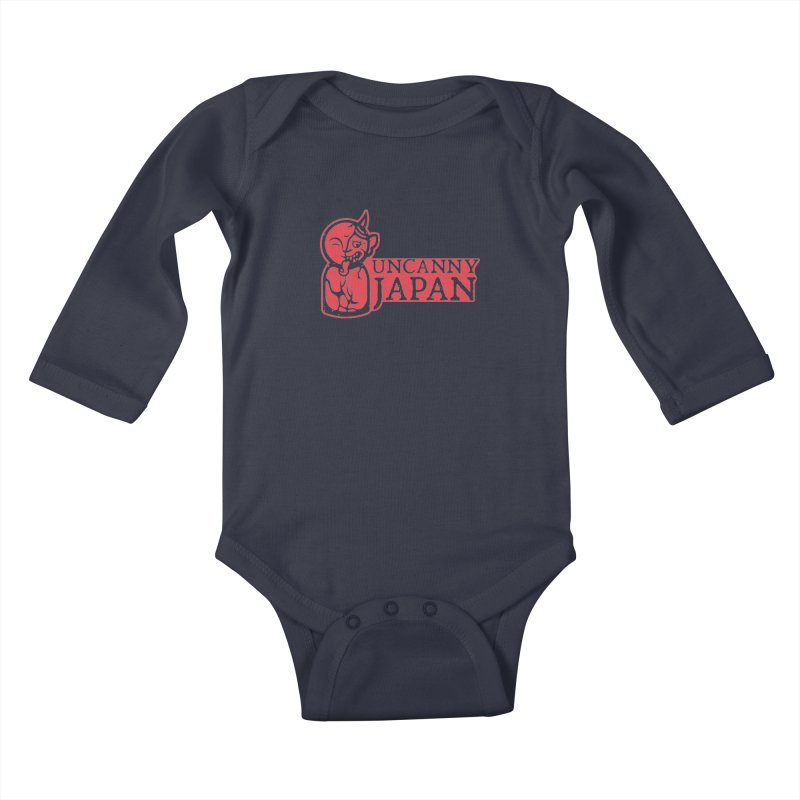 Uncanny Japan-horizontal-red Kids Baby Longsleeve Bodysuit by UncannyJapan's Artist Shop