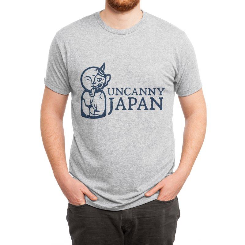 Uncanny Japan-horizontal-blue Men's T-Shirt by UncannyJapan's Artist Shop