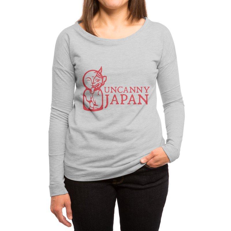 Uncanny Japan - Horizontal-red Women's Longsleeve T-Shirt by UncannyJapan's Artist Shop