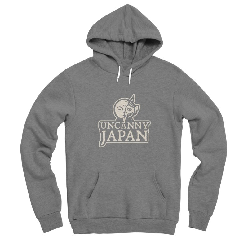 Uncanny Japan-text heavy-white Women's Pullover Hoody by UncannyJapan's Artist Shop