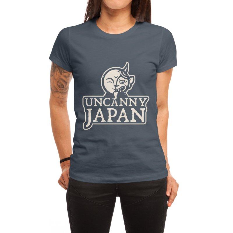 Uncanny Japan-text heavy-white Women's T-Shirt by UncannyJapan's Artist Shop