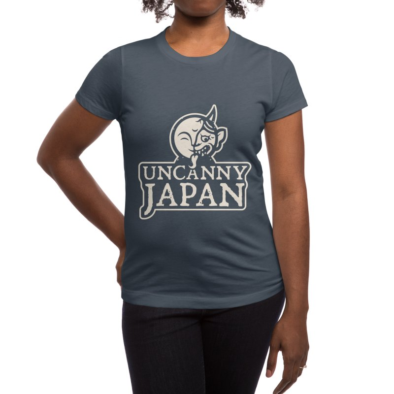 Uncanny Japan-text heavy-white Women's T-Shirt by UncannyJapan's Artist Shop