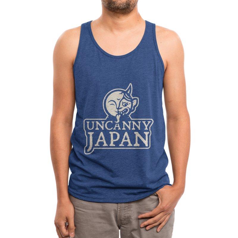 Uncanny Japan-text heavy-white Men's Tank by UncannyJapan's Artist Shop