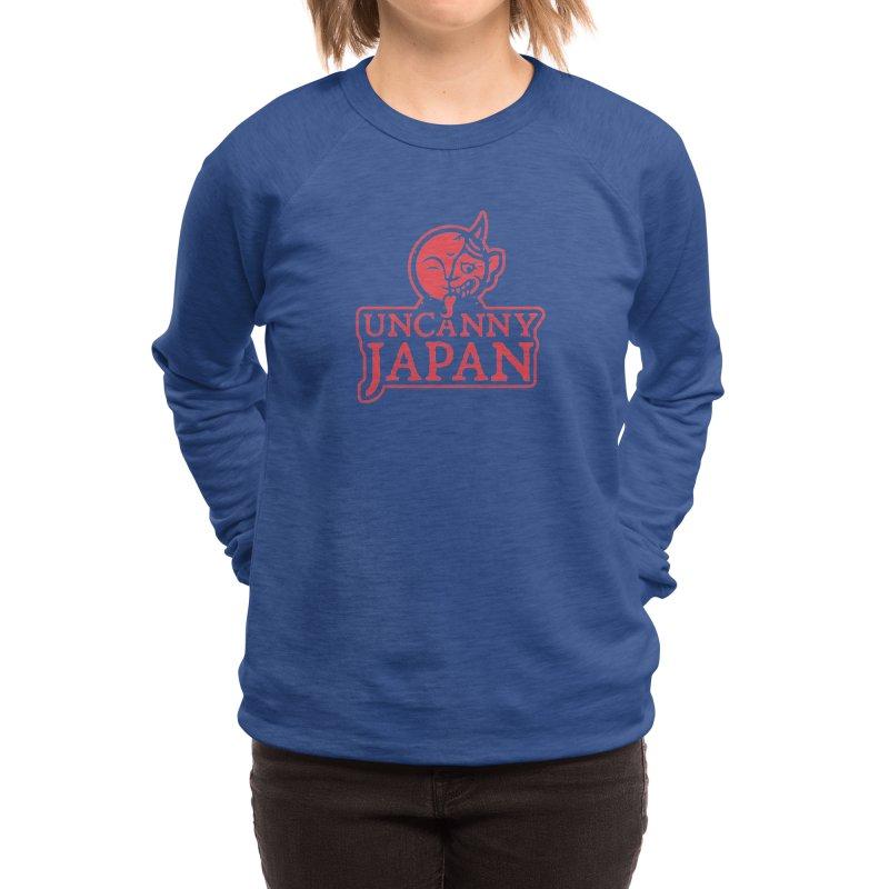 Uncanny Japan-text heavy-red Women's Sweatshirt by UncannyJapan's Artist Shop