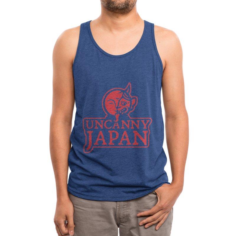 Uncanny Japan-text heavy-red Men's Tank by UncannyJapan's Artist Shop