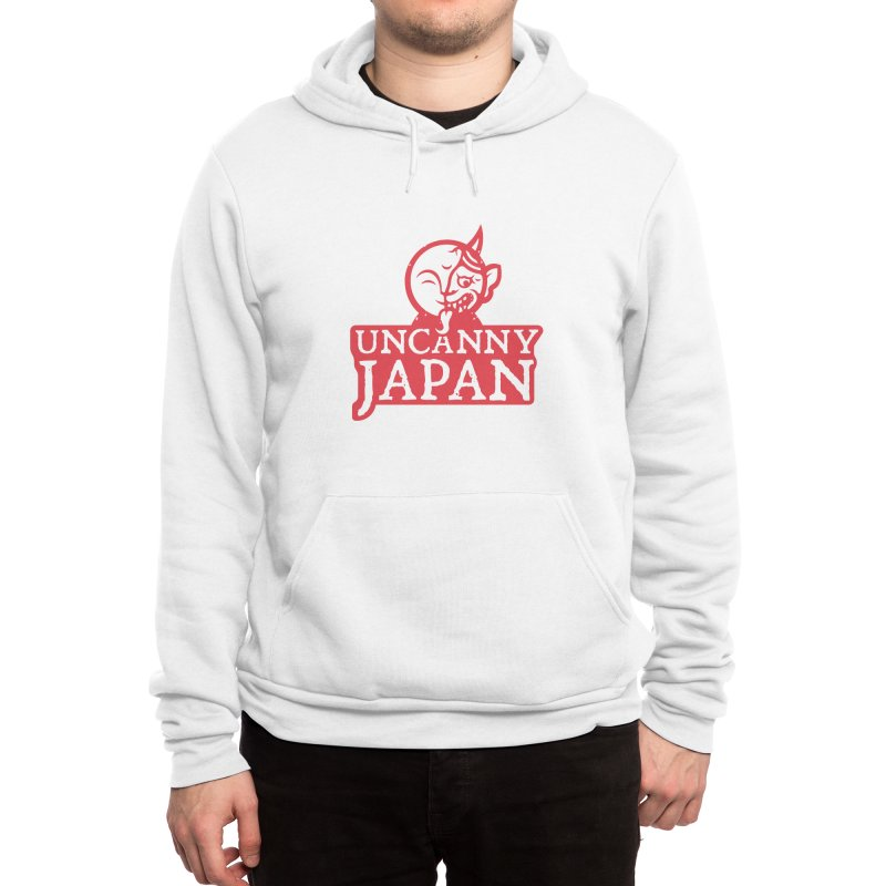 Uncanny Japan-text heavy-red Men's Pullover Hoody by UncannyJapan's Artist Shop