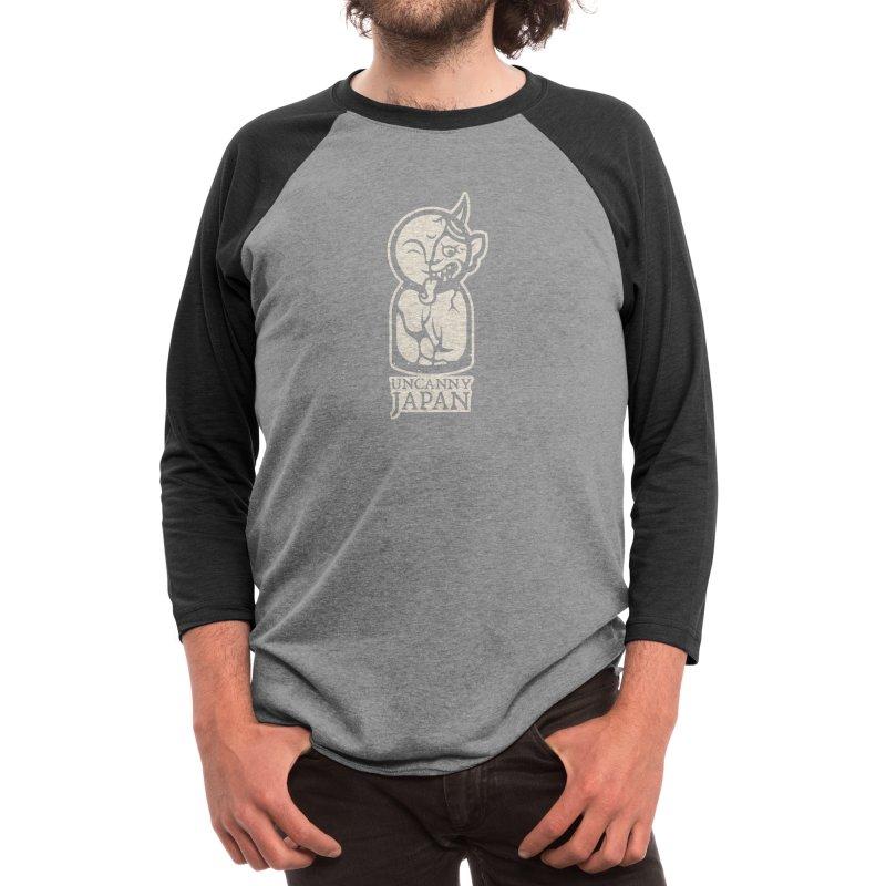 Uncanny Japan-vertical-white Men's Longsleeve T-Shirt by UncannyJapan's Artist Shop