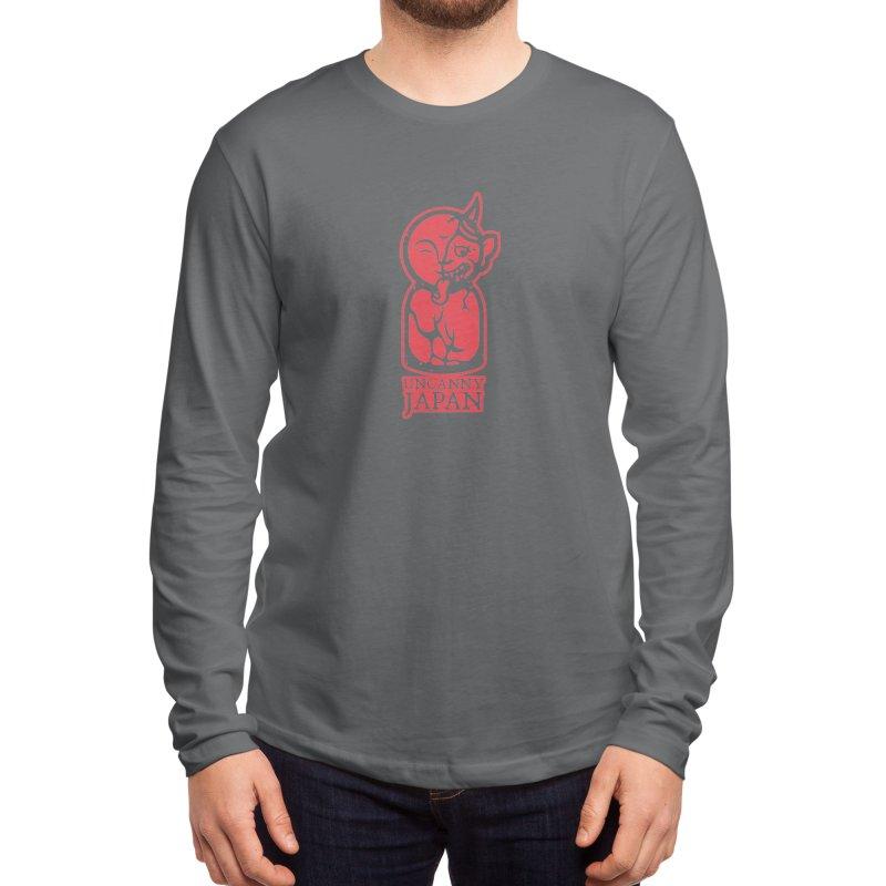 Uncanny Japan-vertical-red Men's Longsleeve T-Shirt by UncannyJapan's Artist Shop