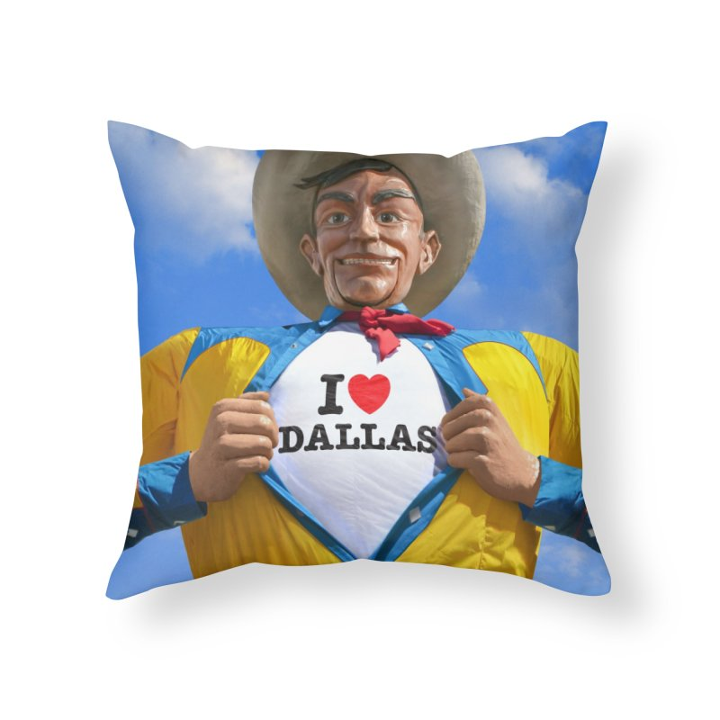 Big Tex - I Heart Dallas in Throw Pillow by Dallas Merch by MarkRossStudio