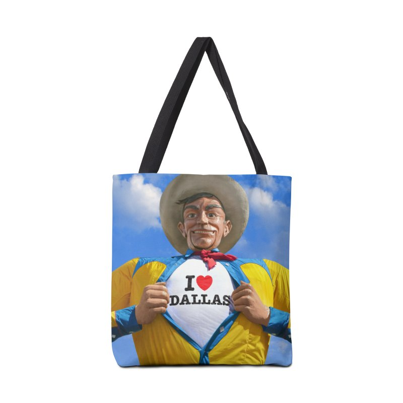 Big Tex - I Heart Dallas in Tote Bag by Dallas Merch by MarkRossStudio