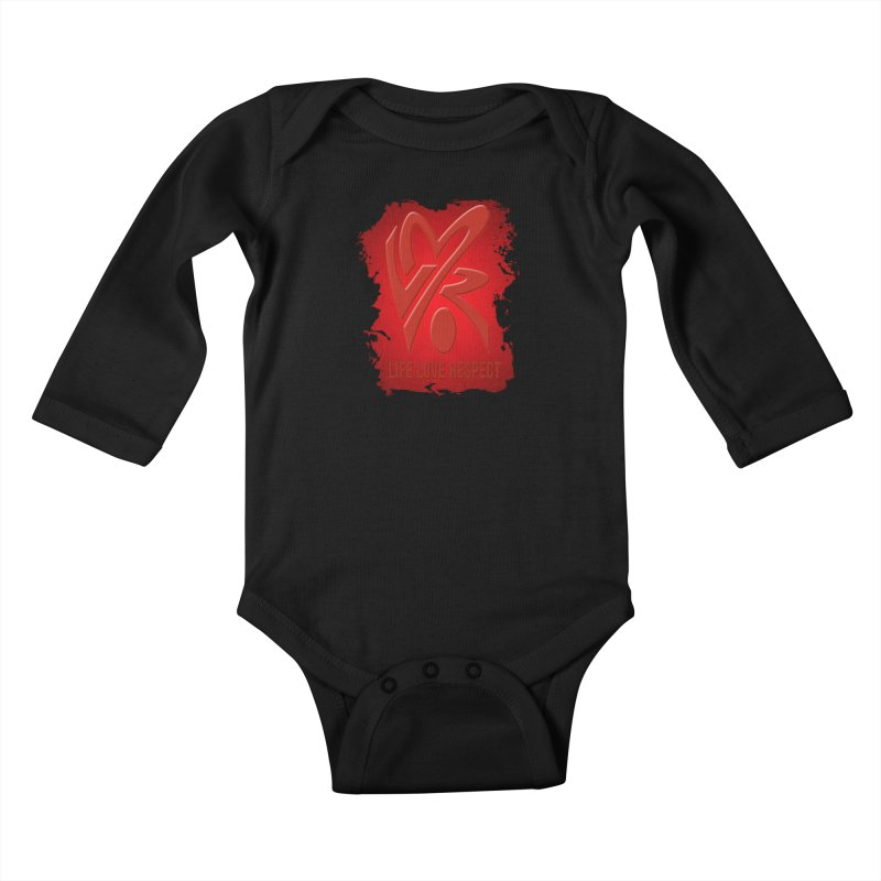 Life-Love-Respect Kids Baby Longsleeve Bodysuit by UnpredictableTees's Artist Shop