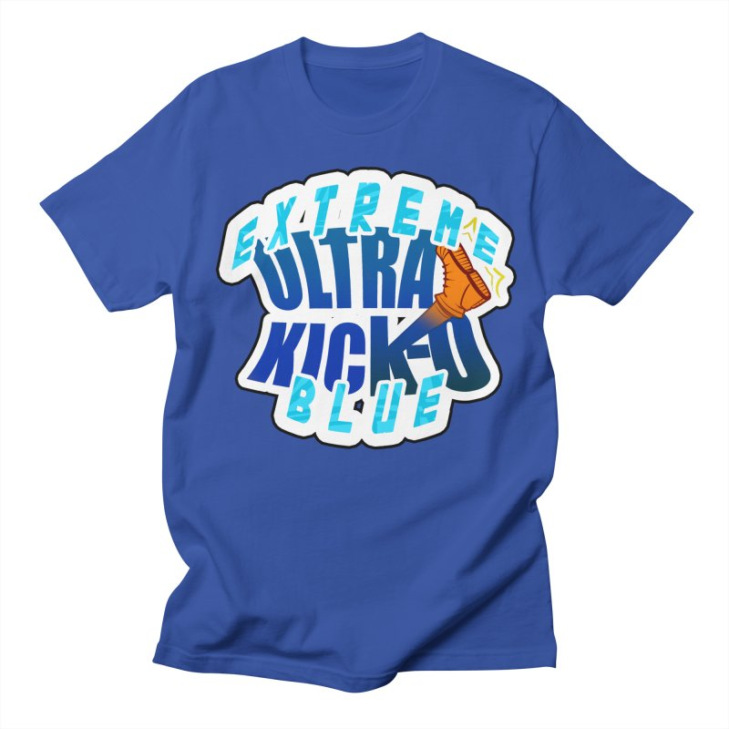 Ultra Kick-O EXTREME BLUE in Women's Regular Unisex T-Shirt Royal Blue by UtopiaDescending's Artist Shop