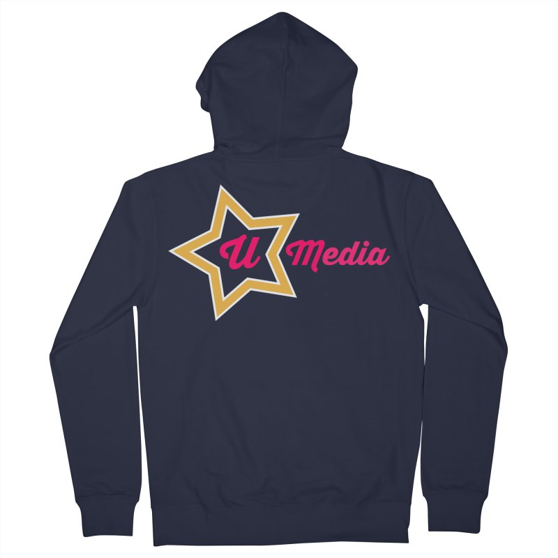 You-Star Media in Women's French Terry Zip-Up Hoody Navy by UtopiaDescending's Artist Shop