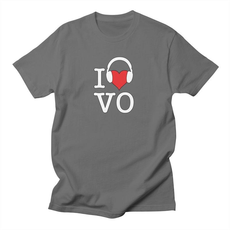 I Love VO Men's T-Shirt by VOriety Designs by VoiceOverDude