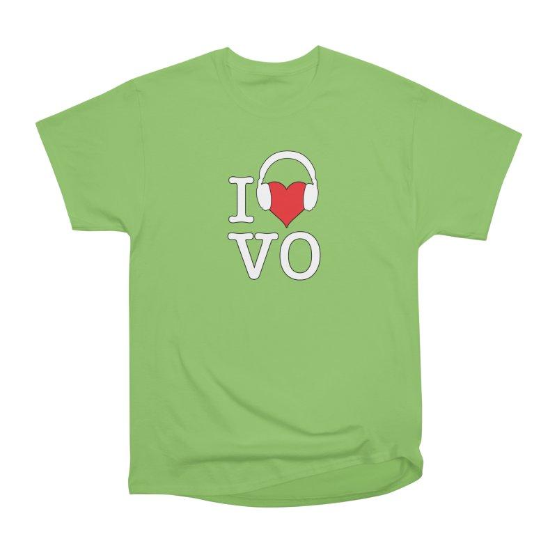 I Love VO Men's Heavyweight T-Shirt by VOriety Designs by VoiceOverDude