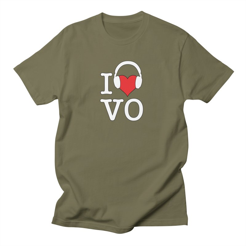 I Love VO Men's Regular T-Shirt by VOriety Designs by VoiceOverDude