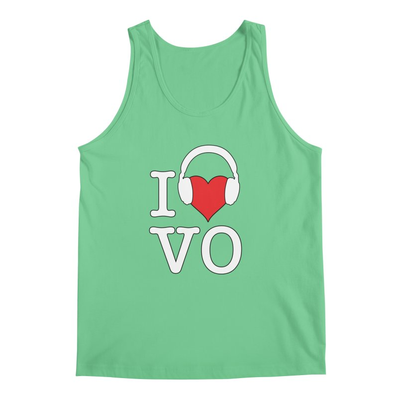 I Love VO Men's Regular Tank by VOriety Designs by VoiceOverDude