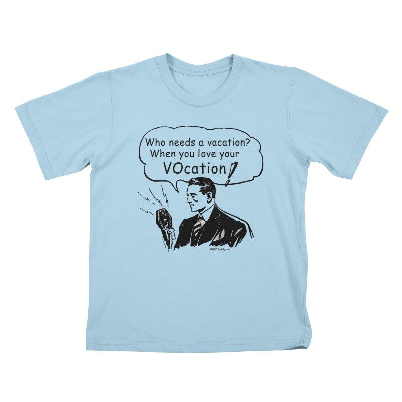 Retro VOcation Kids T-Shirt by VOriety Designs by VoiceOverDude