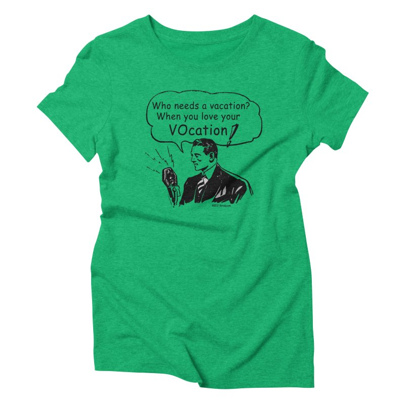 Retro VOcation Women's Triblend T-Shirt by VOriety Designs by VoiceOverDude