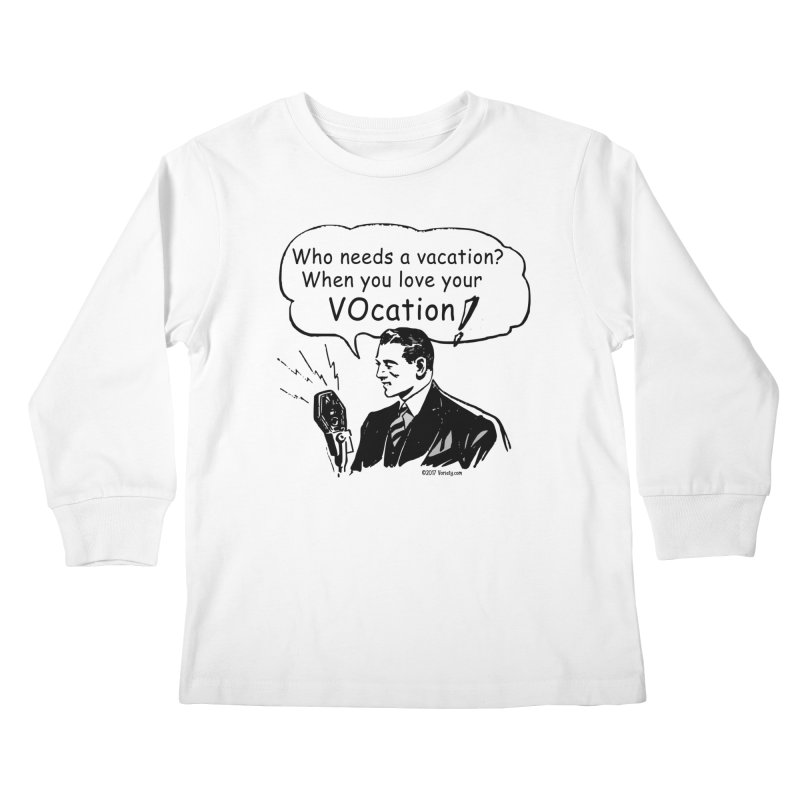Retro VOcation Kids Longsleeve T-Shirt by VOriety Designs by VoiceOverDude