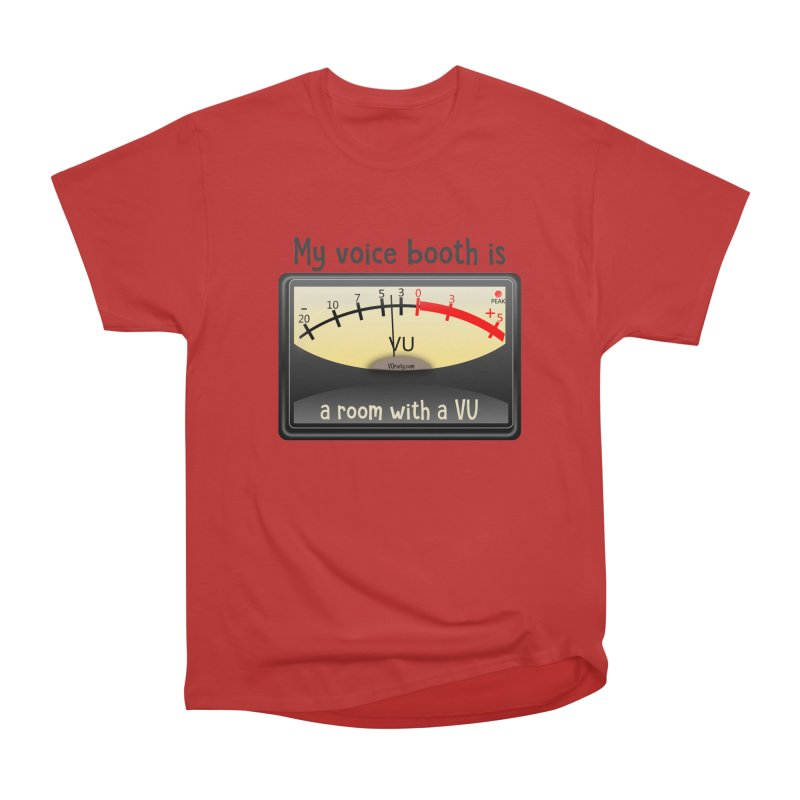 Room with a VU! Women's Heavyweight Unisex T-Shirt by VOriety Designs by VoiceOverDude