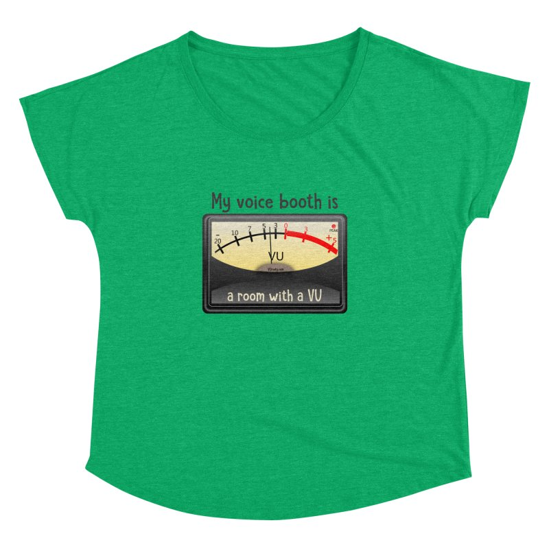 Room with a VU! Women's Dolman Scoop Neck by VOriety Designs by VoiceOverDude