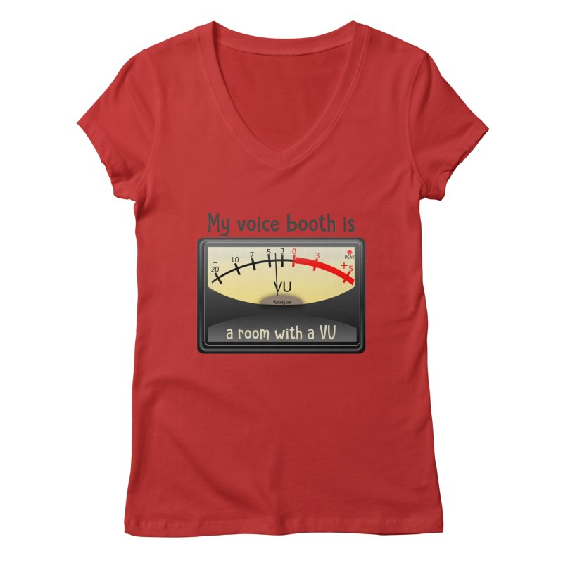 Room with a VU! Women's Regular V-Neck by VOriety Designs by VoiceOverDude