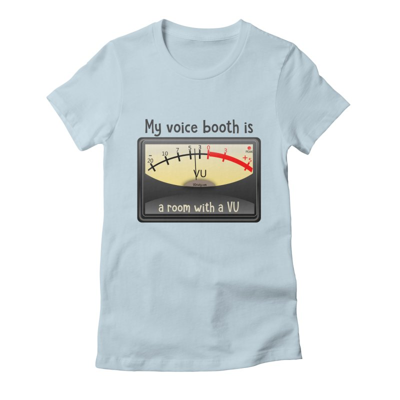 Room with a VU! Women's Fitted T-Shirt by VOriety Designs by VoiceOverDude