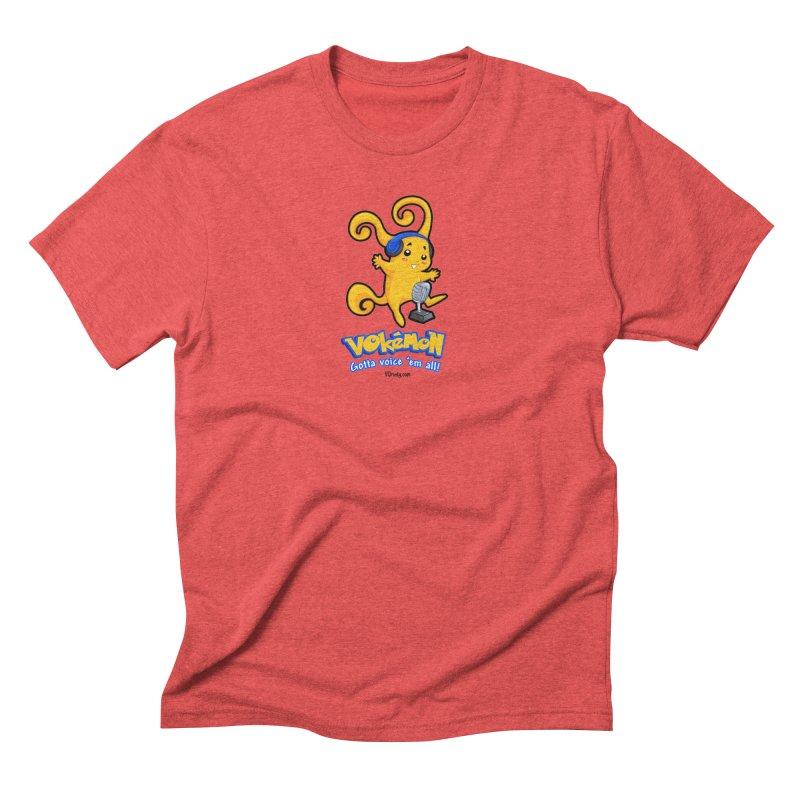 VOkémon - Gotta Voice em' all! Men's Triblend T-Shirt by VOriety Designs by VoiceOverDude