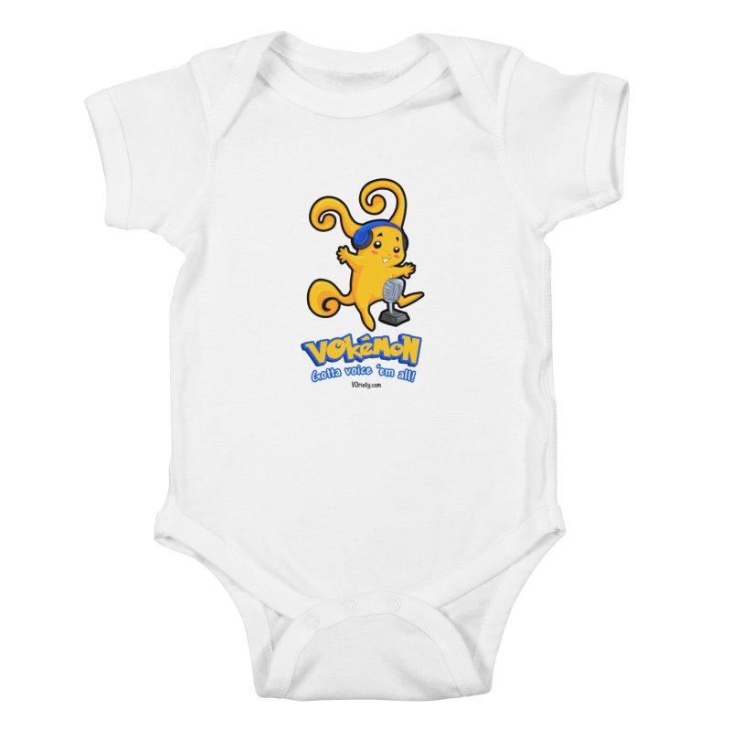 VOkémon - Gotta Voice em' all! Kids Baby Bodysuit by VOriety Designs by VoiceOverDude