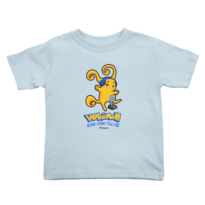 VOkémon - Gotta Voice em' all! Kids Toddler T-Shirt by VOriety Designs by VoiceOverDude