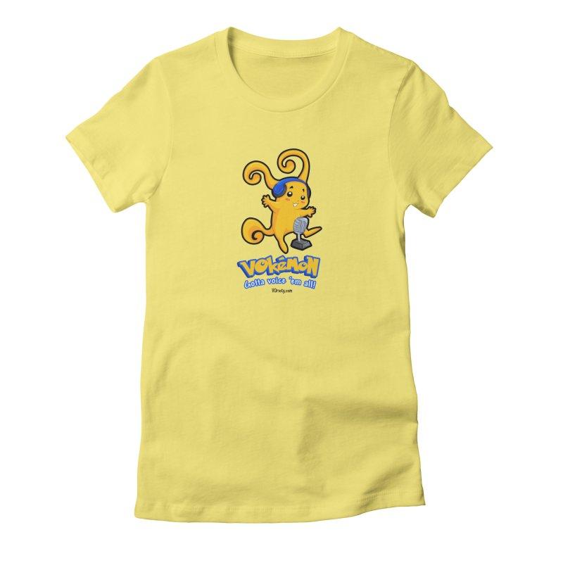 VOkémon - Gotta Voice em' all! Women's Fitted T-Shirt by VOriety Designs by VoiceOverDude