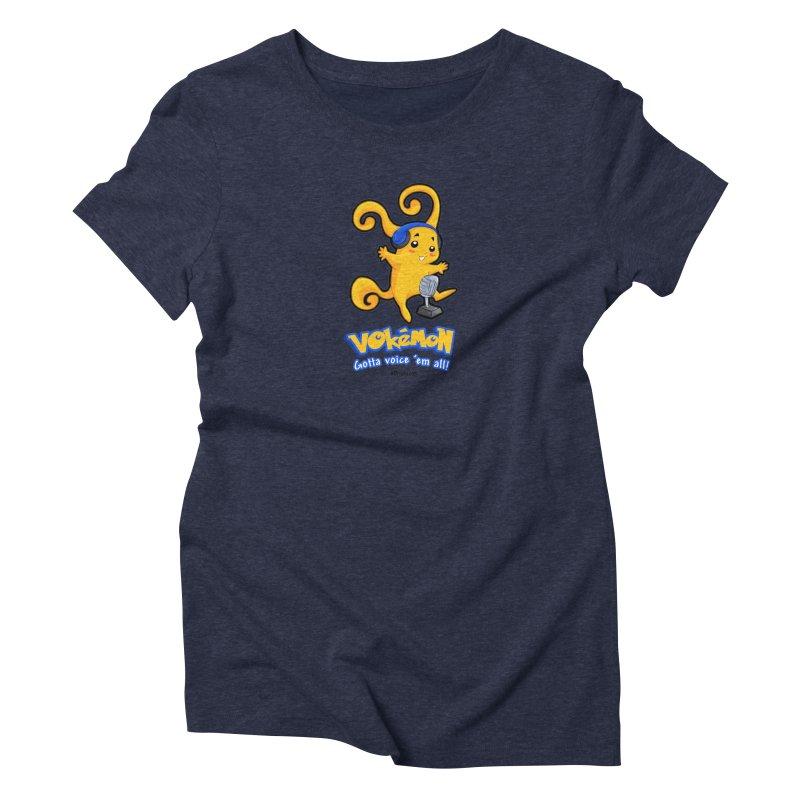 VOkémon - Gotta Voice em' all! Women's Triblend T-Shirt by VOriety Designs by VoiceOverDude