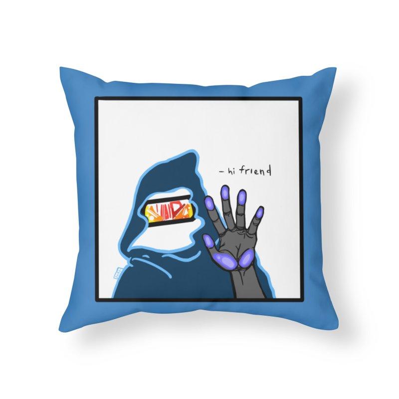 Hi Friend Home Throw Pillow by VRTrend's Artist Shop